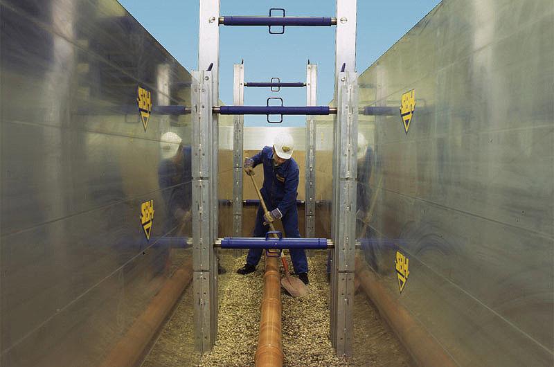 Алюминиевые распорные крепи позволяют безопасно ремонтировать коммуникации в городе.