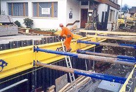 Работа в плывуне на глубине 3 м