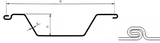Шпунт Ларсена типа Омега мелкий корытообразный от SBH - замок и профиль