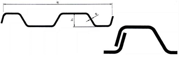 Профиль KD-типа волнообразный от SBH без замков